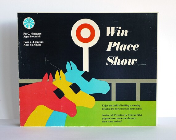 win place or show board game