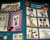 Disney Counted Cross Stitch The Gang's All Here Leisure Arts 3133 Counted Cross Stitch Leaflet