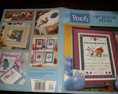 "Cross Stitch Charts ""P"" is for Pooh Baby Collection Leisure Arts 3089 Counted Cross Stitch Leaflet"
