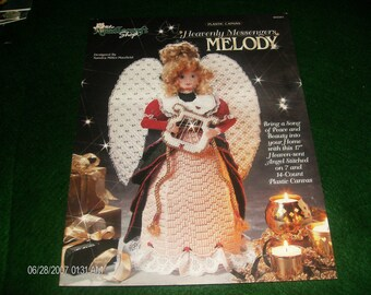 Angel Plastic Canvas Pattern Heavenly Messengers Melody Needlecraft Shop 943341 Plastic Canvas Pattern Leaflet