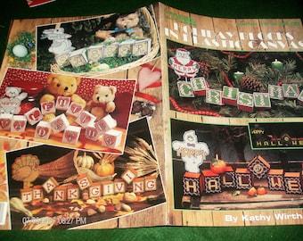 Holidays Plastic Canvas Patterns Holiday Blocks Leisure Arts 1619 Pattern Leaflet
