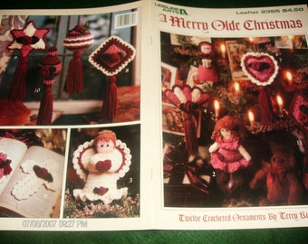 Holiday Crocheting Patterns Merry Olde Christmas Leisure Arts 2365 Kimbrough Crochet Pattern Leaflet