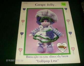 Crochet Dumplin Dolls Grape Jelly Lollipop Lane Crochet Pattern Leaflet CDC 403