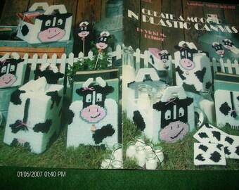 Cow Plastic Canvas Patterns Create a Mooo-d Leisure Arts 1293 Rohner Plastic Canvas Pattern Leaflet