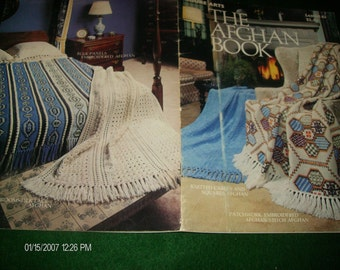 Knit and Crochet Patterns The Afghan Book Leisure Arts 63 Knitting and Crocheting Pattern Leaflet