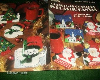 Coaster Plastic Canvas Patterns Christmas Coasters Leisure Arts 1383 Levitt Plastic Canvas Pattern Leaflet