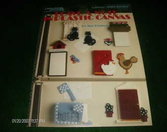 Plastic Canvas Patterns Leaflet Leave a Note Leisure Arts 1291 Penrod Quick and Easy Pattern