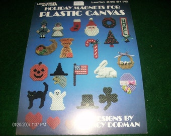 Fridgies or Ornaments Plastic Canvas Pattern Holiday Magnets Leisure Arts 246 Dorman Plastic Canvas Pattern Leaflet