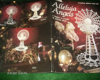 Angel Thread Crochet Patterns Alleluia Angels Leisure Arts 2041 Black Crochet Pattern Leaflet