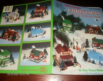Christmas House Plastic Canvas Pattern Leaflet The Christmas Village Vol. 3 American School of Needlework 3025 S25 FranzMeier