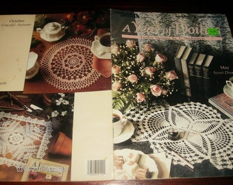 Thread Crocheting Patterns A Year of Doilies Leisure Arts 2120 C. Strohmeyer Crochet Pattern Leaflet