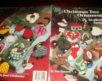Holiday Plastic Canvas Patterns Christmas Tree Ornaments American School of Needlework 3054 Sue Penrod