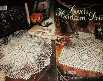 Thread Crochet Patterns Lovely Heirloom Doiles Leisure Arts 2648 C. Strohmeyer Crochet Pattern Leaflet