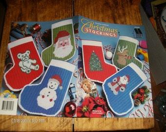 Christmas Stockings Annie's Attic 879506 Lambert Plastic Canvas Pattern Leaflet