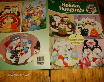 Plastic Canvas Patterns Holiday Hangings Annie's Attic 872632 Plastic Canvas Pattern Leaflet