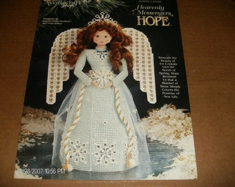 Angel Plastic Canvas Pattern Heavenly Messengers Hope Needlecraft Shop 943301 Plastic Canvas Pattern Leaflet