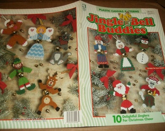 Christmas Plastic Canvas Pattern Jingle Bell Buddies House of White Birches 181029 Plastic Canvas Pattern Leaflet