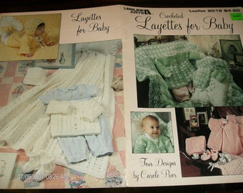 Baby Crocheting Patterns Layettes for Baby Leisure Arts 2019 Crochet Pattern Leaflet
