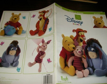 Crochet Pattern Leaflet Pooh and Friends Leisure Arts 3262 Crochet Pattern Leaflet Rare and HTF