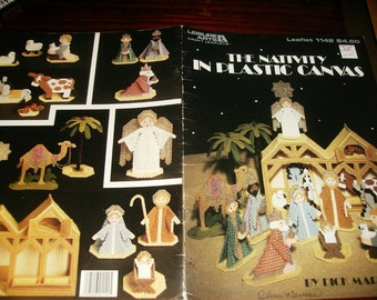 The Nativity in Plastic Canvas Leisure Arts 1142 Dick Martin Plastic Canvas Pattern Leaflet