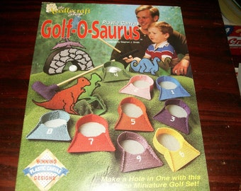 Toy Plastic Canvas Golf-O-Saurus Needlecraft Shop 923712 Pattern Leaflet