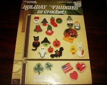 Crochet Pattern Holiday Fridgies Leisure Arts 328 Pattern Leaflet