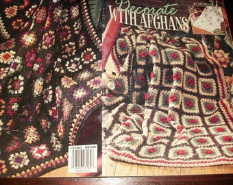 Crochet Pattern Leaflet Decorate with Afghans Leisure Arts 3160 Anne Halliday Crocheting Patterns