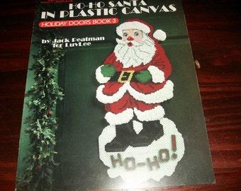 Plastic Canvas Pattern Leaflet Ho Ho Santa Holiday Doors Book 3 Leisure Arts 1325 Plastic Canvas Leaflet Jack Peatman