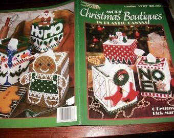 Plastic Canvas Pattern Leaflet More Christmas Boutiques Leisure Arts 1797 Plastic Canvas Leaflet Dick Martin