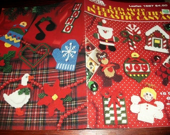 Christmas Plastic Canvas Patterns Lots More Christmas Cuties in Plastic Canvas Leisure Arts 1587 Plastic Canvas Leaflet