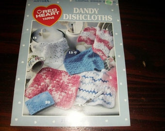 Dish Cloth Crochet Patterns Dandy Dishcloths Leisure Arts 2862 Crocheting Pattern Leaflet Kichen Items