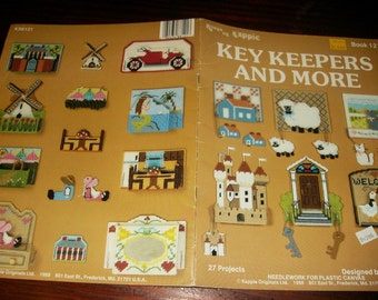 Plastic Canvas Patterns Key Keepers and More Kount on Kappie Book 121 Plastic Canvas Pattern Leaflet Nancy Dorman