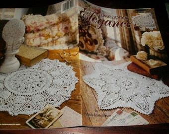 Doily Thread Crochet Patterns Pineapple Elegance Leisure Arts 3291 Patricia Kristoffersen Crochet Pattern Leaflet