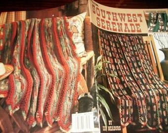 Afghan Crochet Pattern Leaflet Southwest Serenade Leisure Arts 3101 Kay Meadors Crocheting Patterns