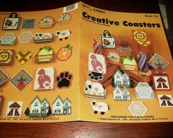 Plastic Canvas Patterns Creative Coasters Plastic Canvas Kount on Kappie Book 139 Plastic Canvas Pattern Leaflet Gina Woods