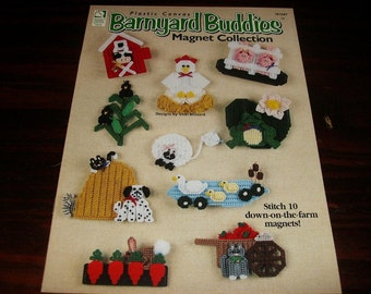 Plastic Canvas Magnets Barnyard Buddies in Plastic Canvas House of White Birches 181047 Plastic Canvas Pattern Leaflet