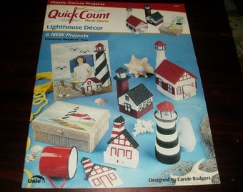 Plastic Canvas Pattern Lighthouse Decor Quick Count Needlecraft Shop 53000 Plastic Canvas Pattern Leaflet
