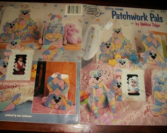 Baby Plastic Canvas Patterns Patchwork Pals American School of Needlework 3123 Plastic Canvas Pattern Leaflet