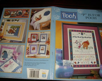 """Cross Stitch Charts """"P"""" is for Pooh Baby Collection Leisure Arts 3089 Counted Cross Stitch Leaflet"""