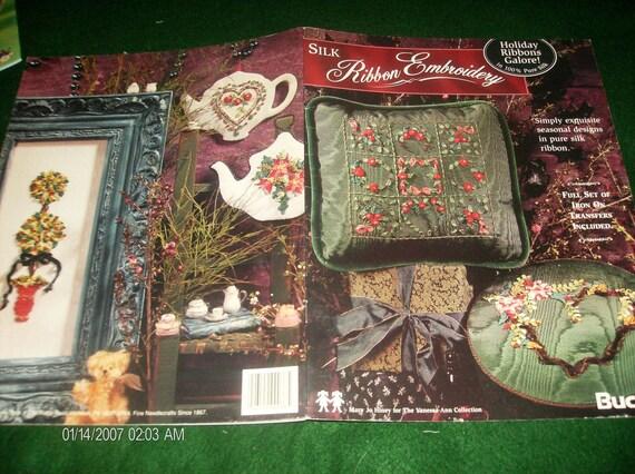 Christmas Silk Ribbon Leaflet Holiday Ribbons Galore Silk Ribbon Embroidery Bucilla Hiney