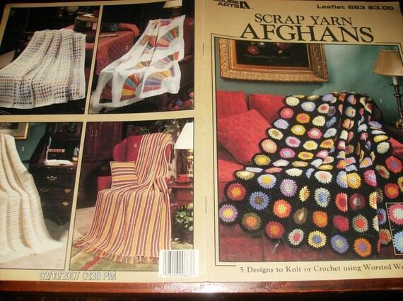 Scrap Yarn Afghans Leisure Arts 883