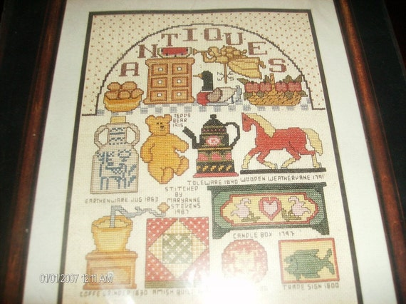 Counted Cross Stitching Kit Antique Collection Bucilla Counted Cross Stitch Kit 40090