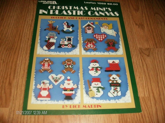 Plastic Canvas Pattern Christmas Mini's in Plastic Canvas Leisure Arts 1059 Dick Martin Pattern Leaflet