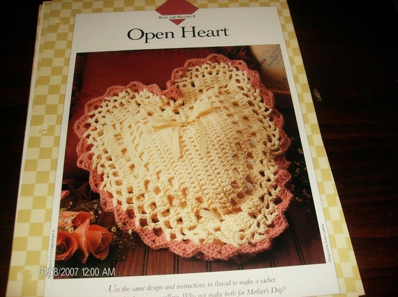 Crochet Pattern Open Heart Vanna Binder Pattern Rugs and Pillows 8 Crocheting Pattern
