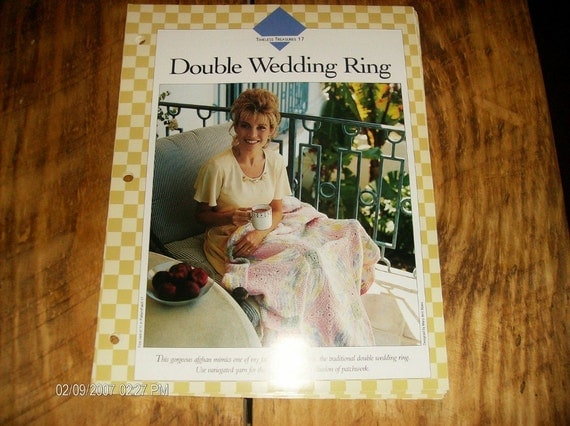 Double Wedding Ring Afghan Vanna White Binder Pattern Timeless