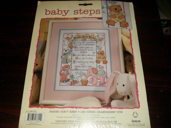 Counted Cross Stitch Kit Babies Don't Keep Janlynn 1136-02