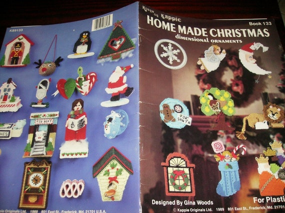 Christmas Plastic Canvas Patterns Homemade Christmas Dinemsional Ornaments Kount on Kappie Book 133 Plastic Canvas Leaflet