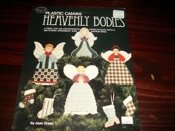 Christmas Plastic Canvas Patterns Heavenly Bodies Hot off the Press 327 Plastic Canvas Pattern Leaflet