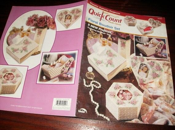 Plastic Canvas Patterns Floral Boudoir Set Uniek 3053024 Plastic Canvas Leaflet