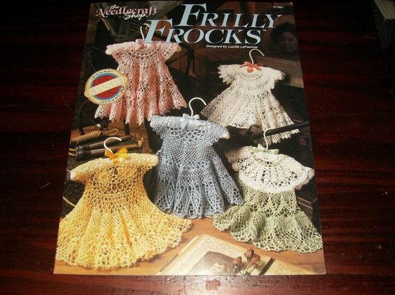Baby Dress Crocheting Patterns Frilly Frocks Needlecraft Shop 911801 Crochet Pattern Leaflet